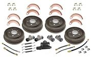 Drum Brake Complete Kit-overhaul Kit-complete Front Rear Fits 48-53 Jeep Willys