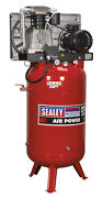 Sealey Sacv52775b Compressor 270ltr Vertical Belt Drive 7.5hp 3ph 2-stage With C