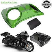 Radioactive Green 8and039and039 Speaker Lids For Advanblack/harley Chopped Tour Pak Pack