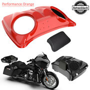 Performance Orange 8and039and039 Speaker Lids For Advanblack/harley Chopped Tour Pak Pack