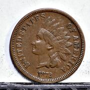 1872 Indian Cent - Xf Details 38077