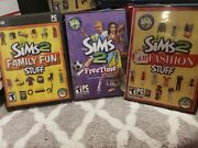Lot Of 3 Sims 2 Expansion Packs For Pc W/all Discs, Manuals, And Unlock Keys