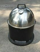 Smith And Wesson Wood Pellet Smoker 22 Mag Bullet Shaped Portable Grill Tailgate