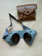 Ww2 German General Purpose Goggles In Carrying Pouch.w
