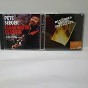 Lot Of 2 Pete Seeger Cds Clearwater Classics Dangerous Sons