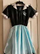Girl's1950s Rock N Roll Juniors Diner Halloween Costume Size Large Dress And Apron