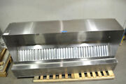 Larkin 10and039 Eo 12051 Stainless-steel Exhaust Hood Fire-suppression Exhaust-vent