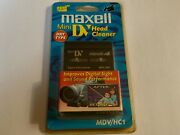 New - Maxell Mini Dv Tape Head Cleaner Dry Type Mdv/hc1 - Sealed -free Shipping