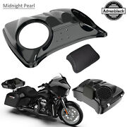 Midnight Pearl 8and039and039 Speaker Lids For Advanblack/harley Chopped Tour Pak Pack