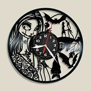 The Nightmare Before Christmas Vinyl Wall Clock Record Gift Decor Sign Feast Day