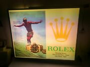Vintage Rolex Official Flag 2 Sided Light Sign Store Display London Submariner
