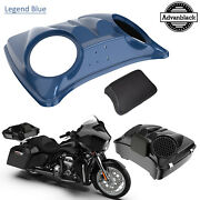 Legend Blue 8and039and039 Speaker Lids For Advanblack/harley Chopped Tour Pak Pack