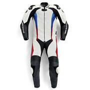 New Bmw Motorrad Pro Race Motorcycle Riding One Piece Leather Suit Size 52