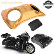 Hard Candy Gold Flake 8and039and039 Speaker Lids For Advanblack/harley Chopped Tour Pack