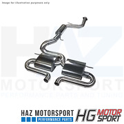 Hg Motorsport Bull-x 3andrdquo Y-style Catback Exhaust System For Ford Focus St Mk3