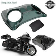 Deep Jade Pearl 8and039and039 Speaker Lids For Advanblack/harley Chopped Tour Pak Pack
