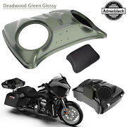 Deadwood Green Glossy 8and039and039 Speaker Lids For Advanblack/harley Chopped Tour Pack
