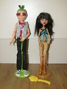 Monster High Rare Cleo De Nile And Deuce Gorgon Doll's With Stand's 1st Wave
