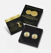 Confirmed American Eagle 2021 One-tenth Ounce Gold Two-coin Set Designer Edition