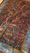 Tree Of Life Mesmerizing 100silk Rug- Ghom57-soft And Light-dazzling Colors