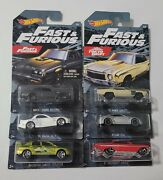 🔥 2018 Hot Wheels Fast And Furious Set Of 6 Lancer And Buick And More Nice 🔥