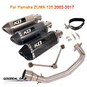 Exhaust System For Yamaha Zuma 125 Bws 125 Front Link Pipe Mufflers Slip On 51mm