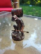 Beautiful Silver Plated Figural 1800and039s Rip Van Winkle Napkin Ring