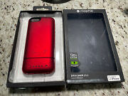 Mophie Juice Pack Plus External Battery Case For Apple Iphone 5 Red 2100mah