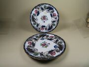 2 Antique Porcelain Plates Charles Meigh And Son Cmands Sutherland Border C1851-61