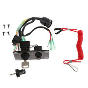 Boat Outboard Engine Ignition Emergency Kill Stop Switch/ Key Lanyard Rope Clip