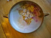 Hand Painted Nippon Gold Beaded Footed Bowl C. 1891 - 1911