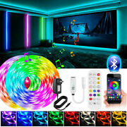 Led Strip Lights 100ft 50ft Music Sync Bluetooth 5050 Rgb Room Light With Remote