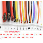 Stranded Silicone Ul Various Colour Super Flexible Rc Cable 0.08mm 2awg To 11awg