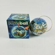 2006 Christmas Tree Ornament Puzzle Ball 3d Ravensburger 60 Pieces Free Shipping