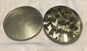 Vintage Mini Pastry / Cookie Cutter Set Of 10 - Metal Storage Tin Made In Italy