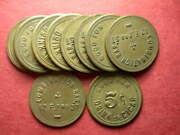 Salt Lake City Ut Lot Of 10 Combination Bar. G/f 5andcent Drink Or Cigar Tokens