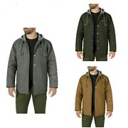 Genuine Menand039s Pick Color Full-zip Canvas Hooded Shirt Jackets S-3xl