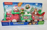 Fisher Price Little People Christmas Train Musical Reindeer Elf Santa Clause Toy
