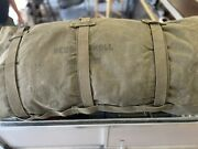 Rare Us Army Bedding Roll Model 1935 With New Casualtysleeping Bag 1955