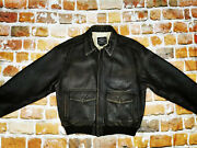 Avirex Usa Pilotand039s A2 Leather Betty Vintage Stars And Stripes Size Xl Tip Top