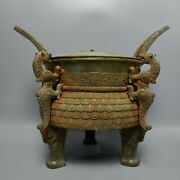 15.2and039and039 Chinese Bronze Incense Burner Bronze Censer Pot Beast Tripod