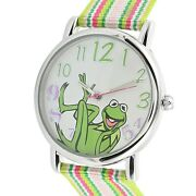 Kermit The Frog Muppetquartz Movement Watch With Multi Color Strap