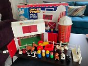 Vintage Fisher Price Little People Farm Set Complete With Box