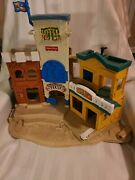 1996 Fisher Price Great Adventure Wild West Town 77052 Sheriff Hotel Bank Vtg