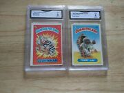 1985 Garbage Pail Kids Series 1 Glossy Fryin Brian And Tommy Tomb Graded Lot Gma 5