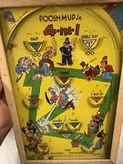 Vintage 1930and039s Poosh-m-up Jr. Table Top Pinball Game Made In U.s.a Baseball
