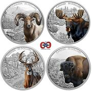 Canada 2020-2021 Imposing Icons 4 X 2 Oz 30 Silver Proof Coin Set In Large Case