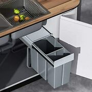 Pull-out Trash Can Under Sink Under Cabinet Waste Bin With Soft-close Slides