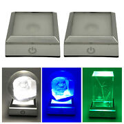 6 Colors Led Light Base Changing Lighted Display Plate For 3d Glass Art