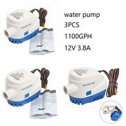 3pcs Automatic Submersible Boat Bilge Water Pump With Float Switch-12v 1100gph